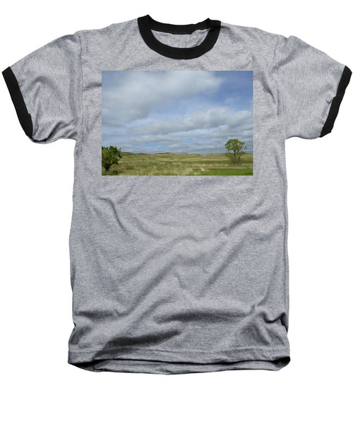 Painted Plains Baseball T-Shirt by JoAnn Lense