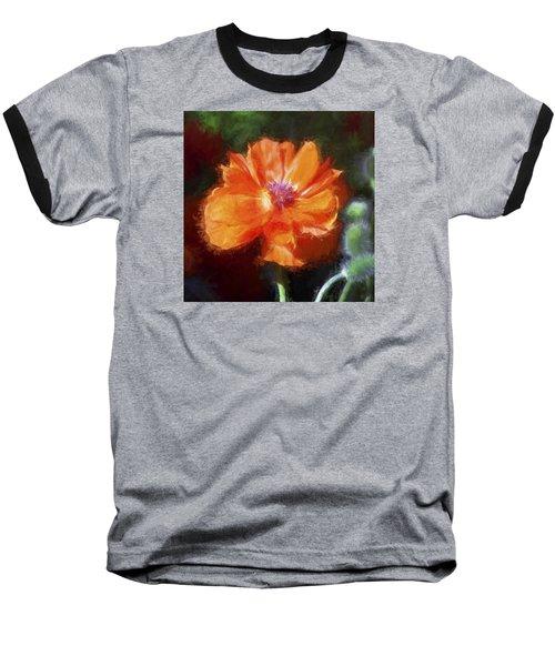 Painted Poppy Baseball T-Shirt
