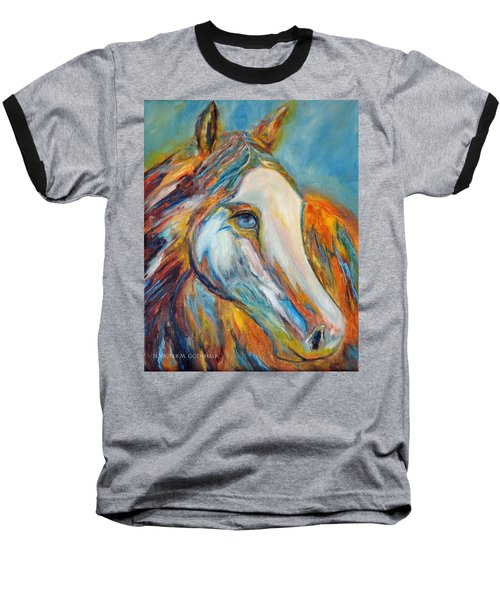 Painted Horse Sensation Baseball T-Shirt