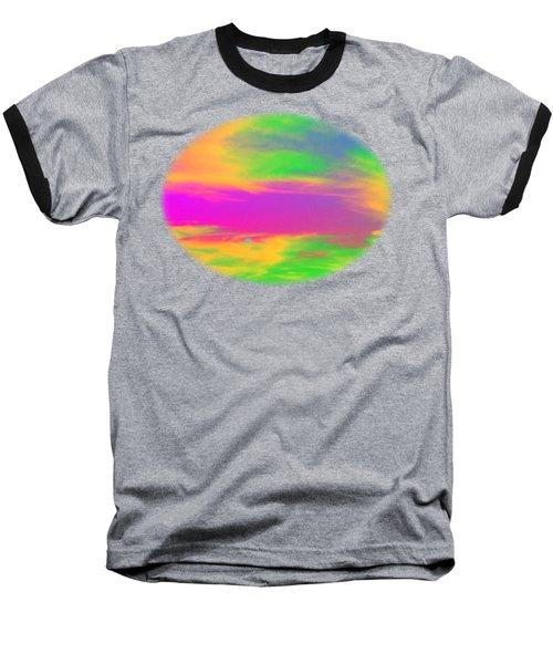 Painted Sky - Abstract Baseball T-Shirt