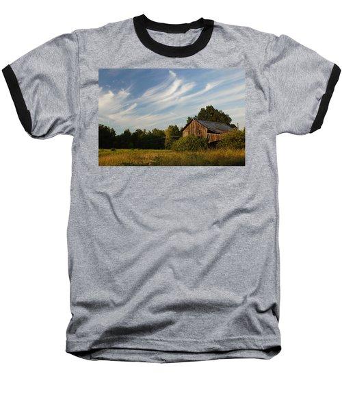 Painted Sky Barn Baseball T-Shirt by Benanne Stiens
