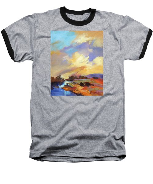 Baseball T-Shirt featuring the painting Painted Sky by Rae Andrews