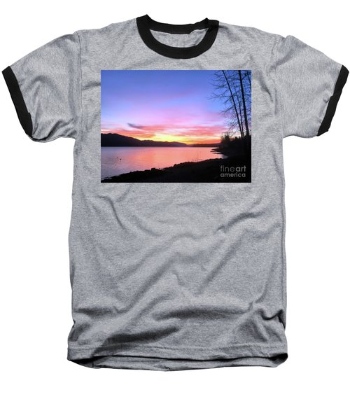 Painted Sky Baseball T-Shirt by Victor K