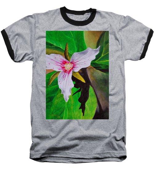 Painted Trillium Baseball T-Shirt