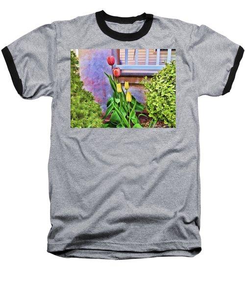 Painted Tulips Baseball T-Shirt
