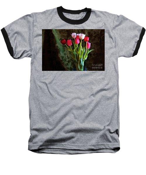 Painted Tulips Baseball T-Shirt by Joan Bertucci