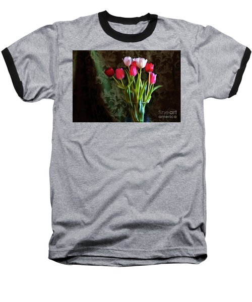 Painted Tulips Baseball T-Shirt