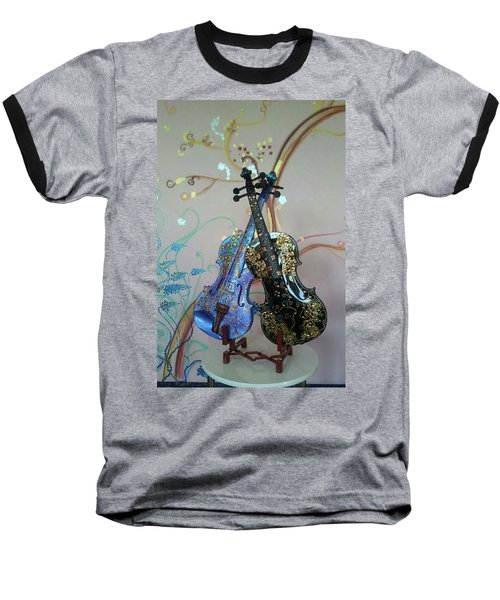 Painted Violins Baseball T-Shirt
