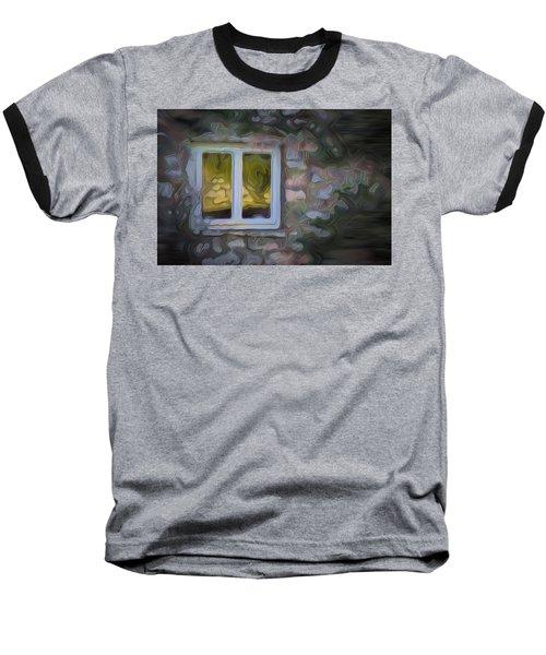 Painted Window Baseball T-Shirt by Carol Crisafi