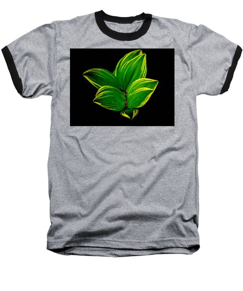 Painter Leaf Pattern Baseball T-Shirt by Bruce Pritchett