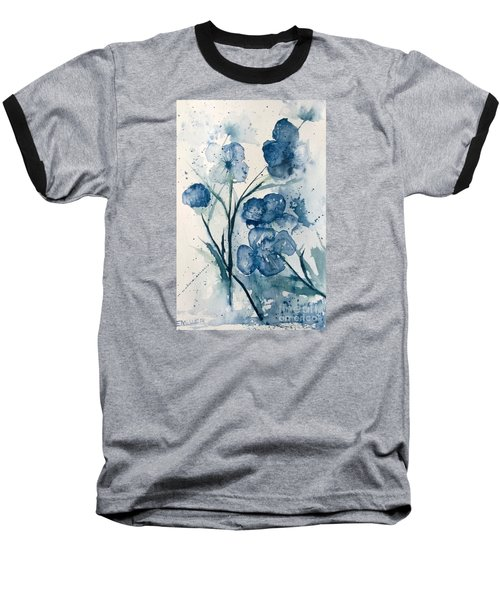 Painterly  Blues Baseball T-Shirt
