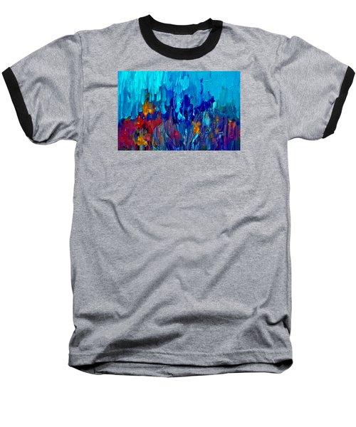 Painterly Garden Flowers Baseball T-Shirt