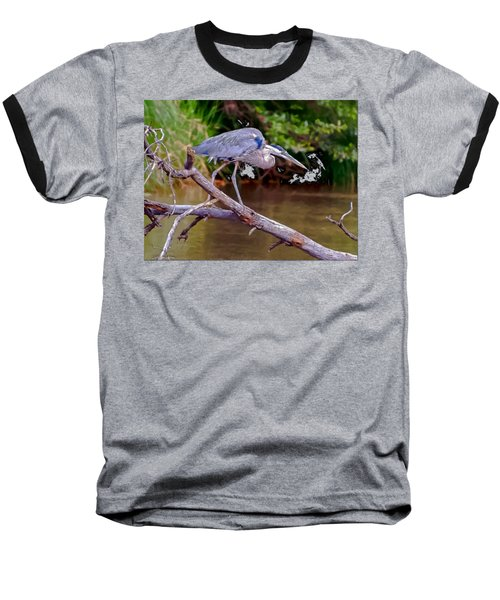Painting Blue Heron Oak Creek Baseball T-Shirt