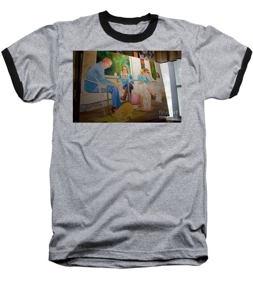 Painting Dogs On Park Avenue Baseball T-Shirt