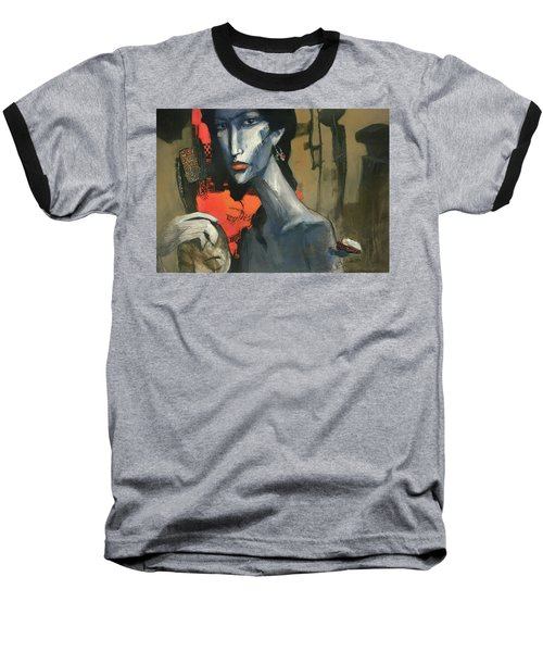 Painting Of The Lady _ 1 Baseball T-Shirt