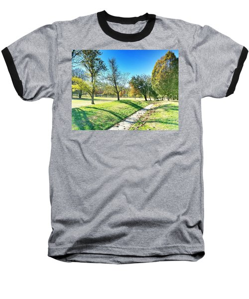 Painting With Shadows - Park Day Baseball T-Shirt