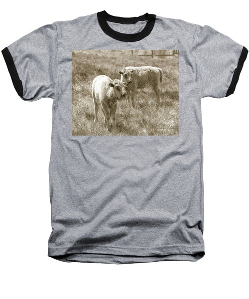 Baseball T-Shirt featuring the photograph Pair Of Baby Buffalos by Rebecca Margraf