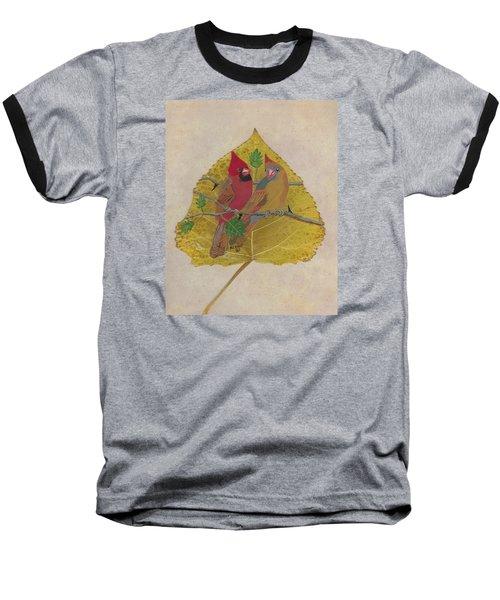 Pair Of Cardinals Baseball T-Shirt by Ralph Root