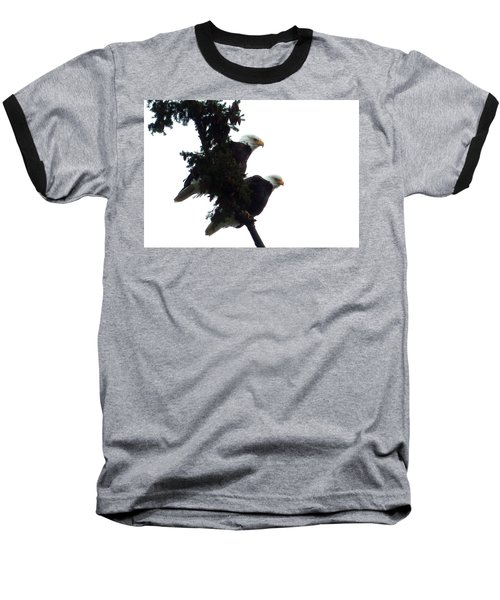 Baseball T-Shirt featuring the photograph Pair Of Eagles In A Tree by Karen Molenaar Terrell