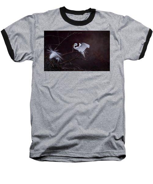 Pair Of Egrets Baseball T-Shirt