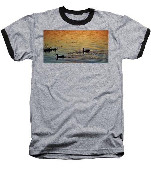 Pair Of Paddlers Baseball T-Shirt by William Bartholomew