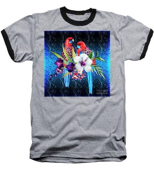 Paired Parrots Baseball T-Shirt