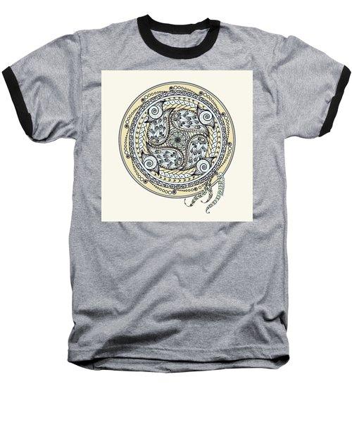 Paisley Balance Mandala Baseball T-Shirt