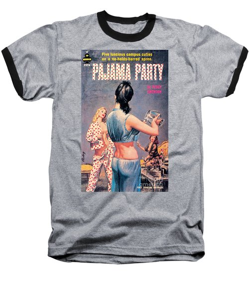 Baseball T-Shirt featuring the painting Pajama Party by Paul Rader