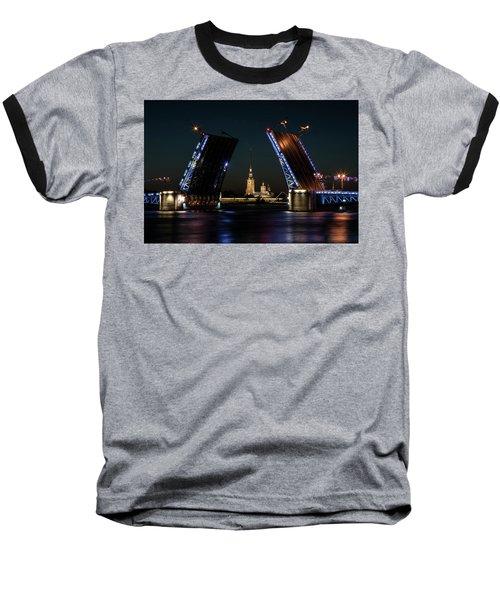 Palace Bridge At Night Baseball T-Shirt