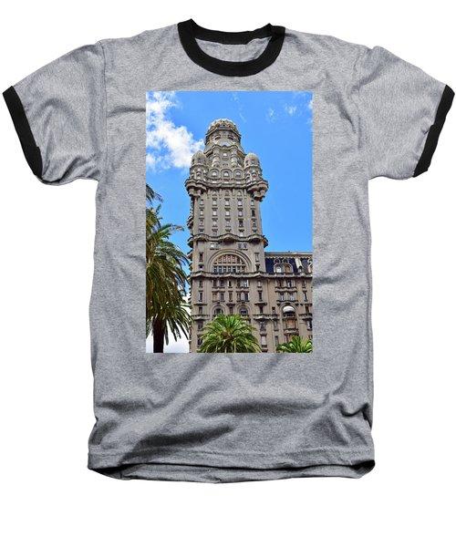 Palacio Salvo, Montevideo, Uruguay No. 35-1 Baseball T-Shirt by Sandy Taylor