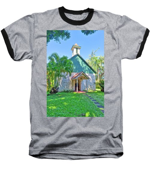 Baseball T-Shirt featuring the photograph Palapala Ho'omau Congregational Church by Jim Thompson