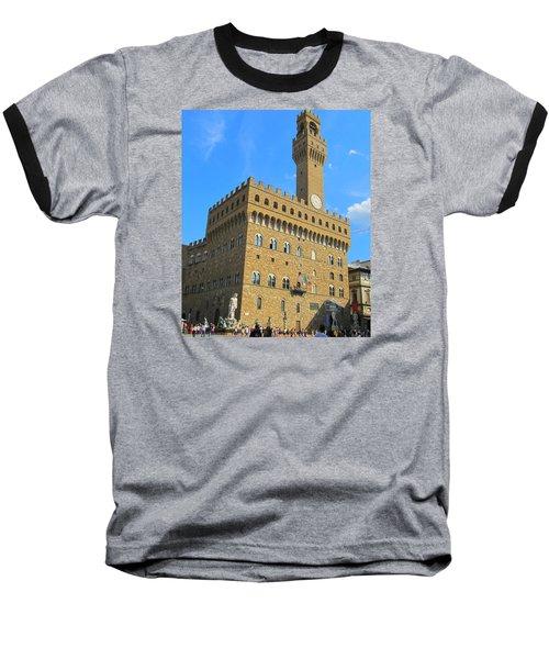 Palazzo Vecchio Florence Baseball T-Shirt