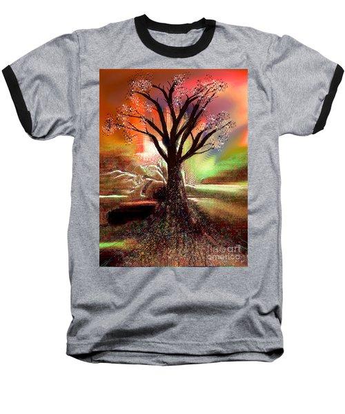 Pale Moonlight 2 Baseball T-Shirt by Yul Olaivar