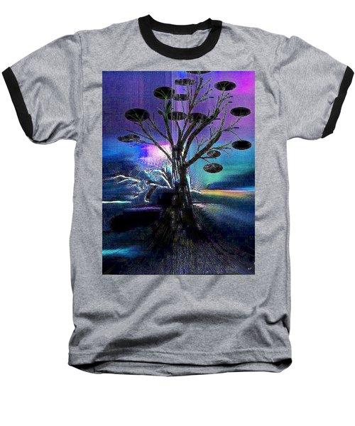 Pale Moonlight Baseball T-Shirt by Yul Olaivar
