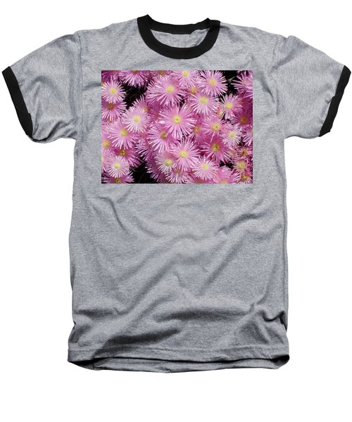 Pale Pink Flowers Baseball T-Shirt by Mark Barclay