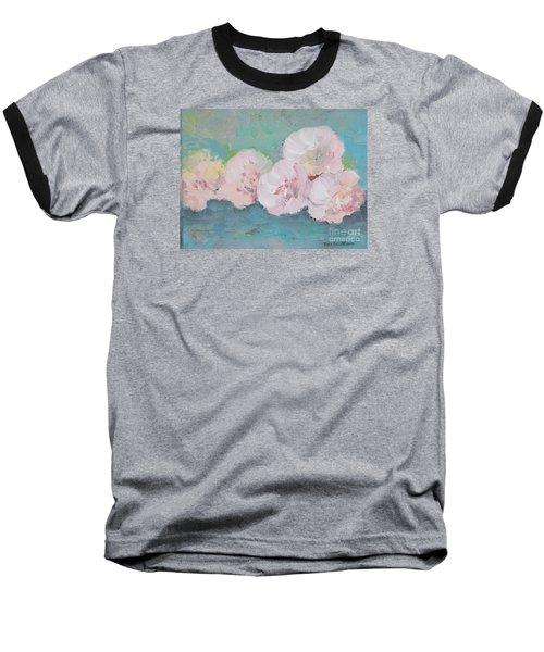 Pale Pink Peonies Baseball T-Shirt by Robin Maria Pedrero