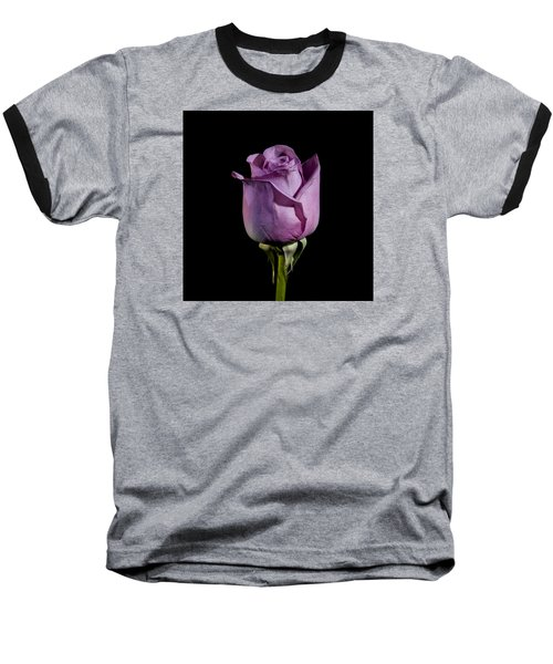 Pale Purple Rose Baseball T-Shirt