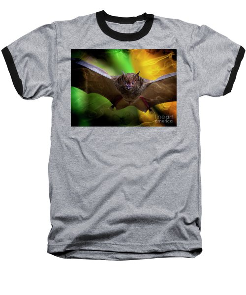 Baseball T-Shirt featuring the photograph Pale Spear-nosed Bat In The Amazon Jungle by Al Bourassa