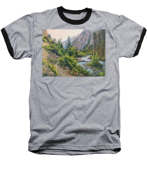 Palisades Creek  Baseball T-Shirt by Steve Spencer