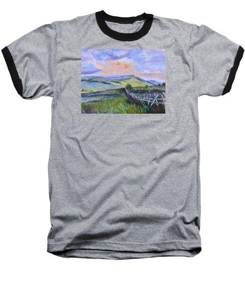 Pallet Knife Sunset Baseball T-Shirt by Lisa Boyd