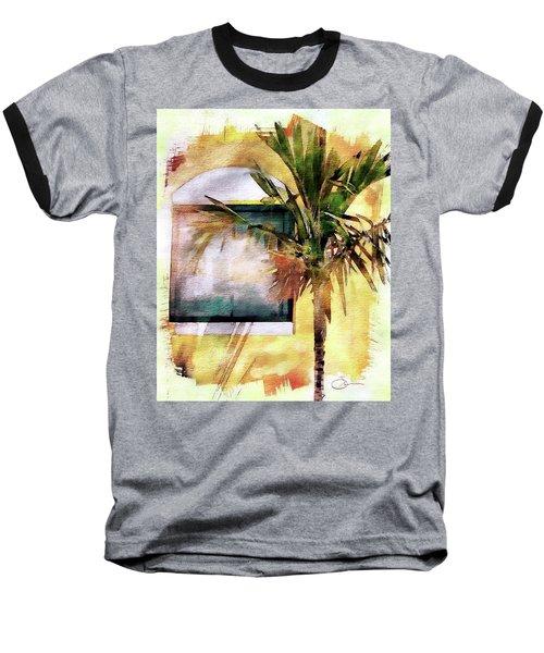 Palm And Window Baseball T-Shirt by Robert Smith