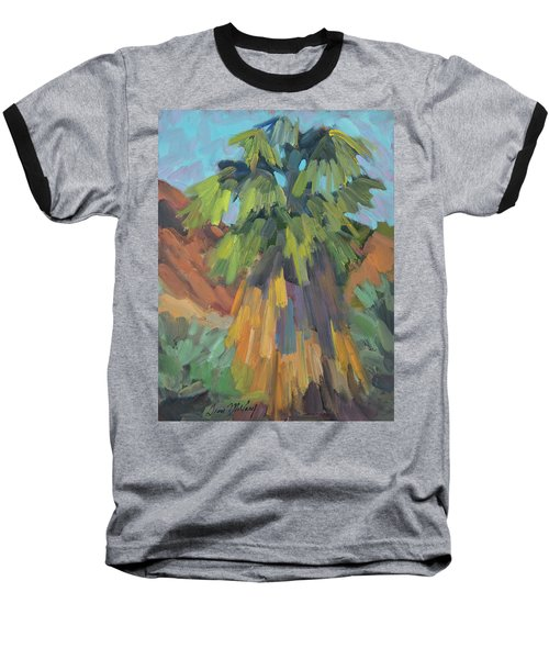 Baseball T-Shirt featuring the painting Palm At Santa Rosa Mountains Visitors Center by Diane McClary