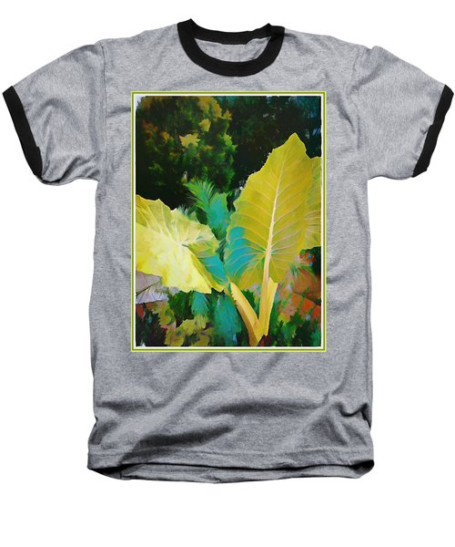 Baseball T-Shirt featuring the painting Palm Branches by Mindy Newman