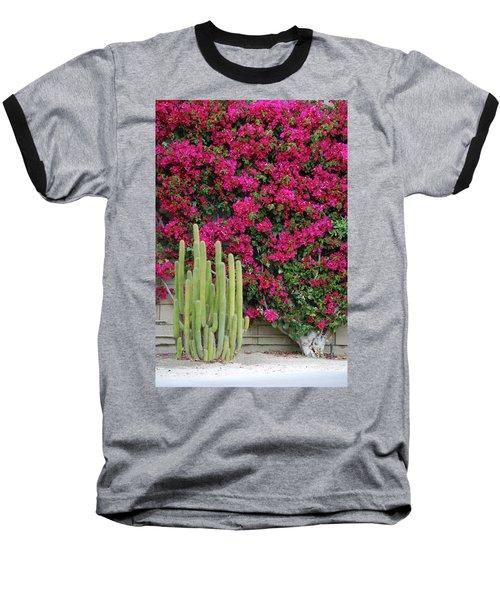 Palm Desert Blooms Baseball T-Shirt