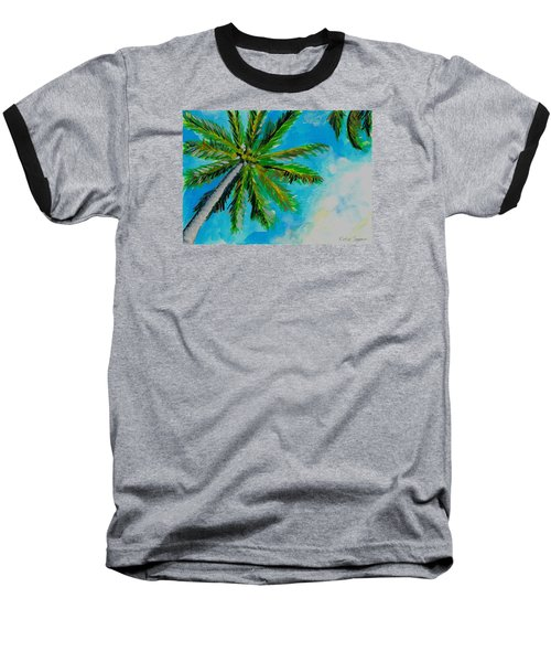 Palm In The Sky Baseball T-Shirt