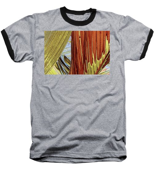 Baseball T-Shirt featuring the photograph Palm Leaf Abstract by Ben and Raisa Gertsberg