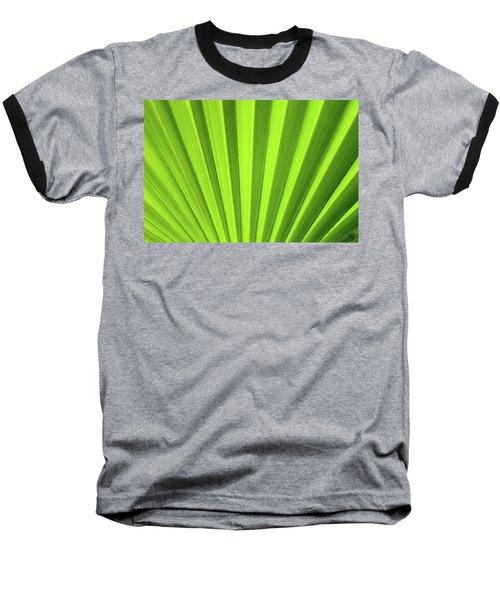 Palm Leaf Abstract Baseball T-Shirt