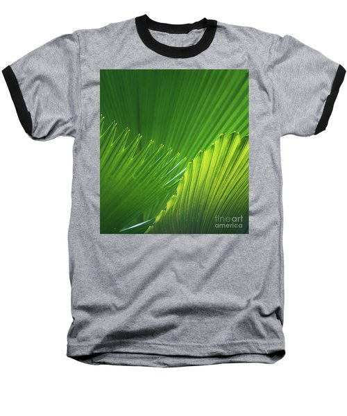 Palm Leaves Baseball T-Shirt by Atiketta Sangasaeng