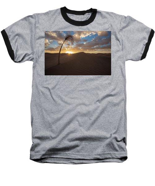 Palm On Dune Baseball T-Shirt