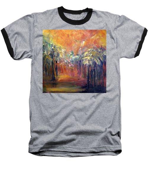 Palm Passage Baseball T-Shirt by Roberta Rotunda